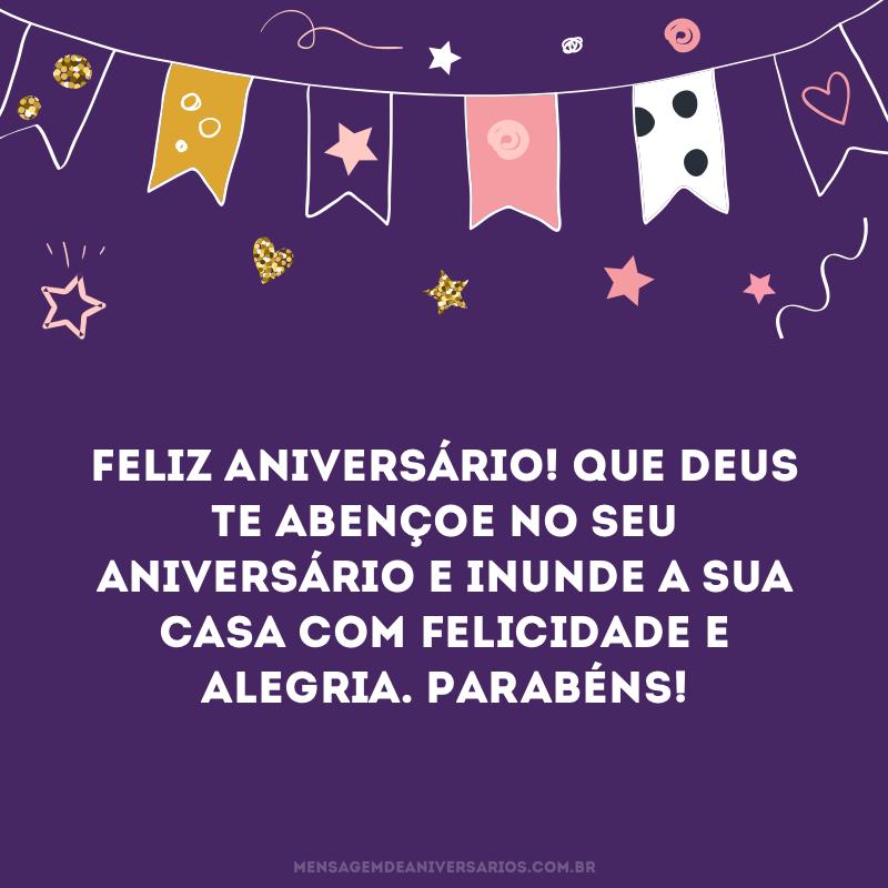 Desejo um aniversário abençoado