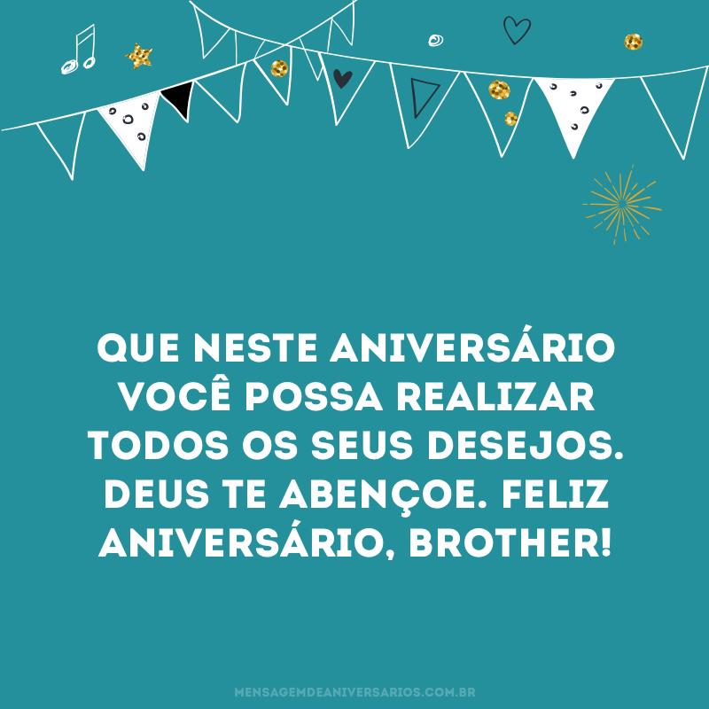 Feliz aniversário, brother