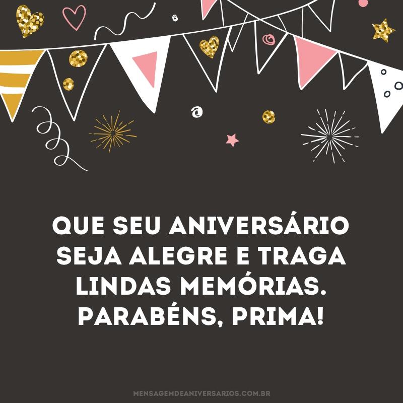 Desejo um aniversário alegre