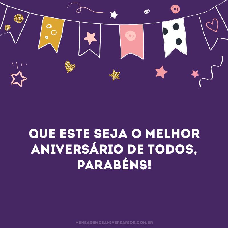 Melhor aniversário de todos
