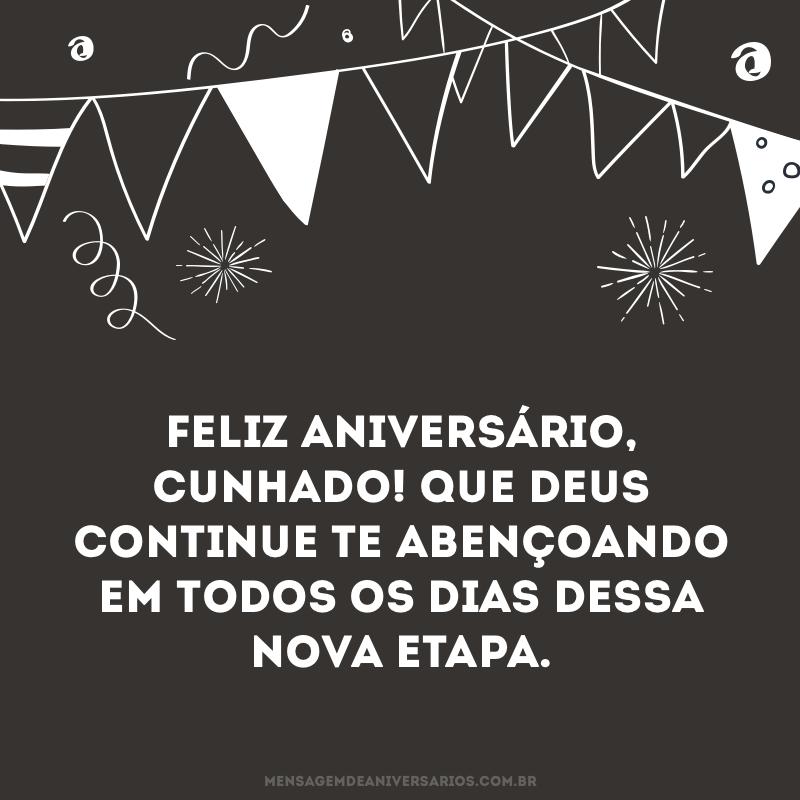 Cunhado, feliz aniversário