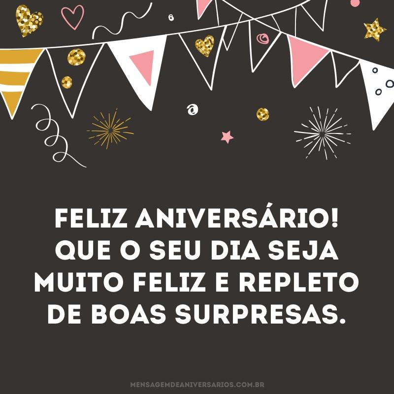 Desejo um dia muito feliz